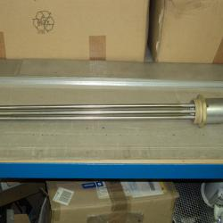Heater from stainless steel tubes with protective cap